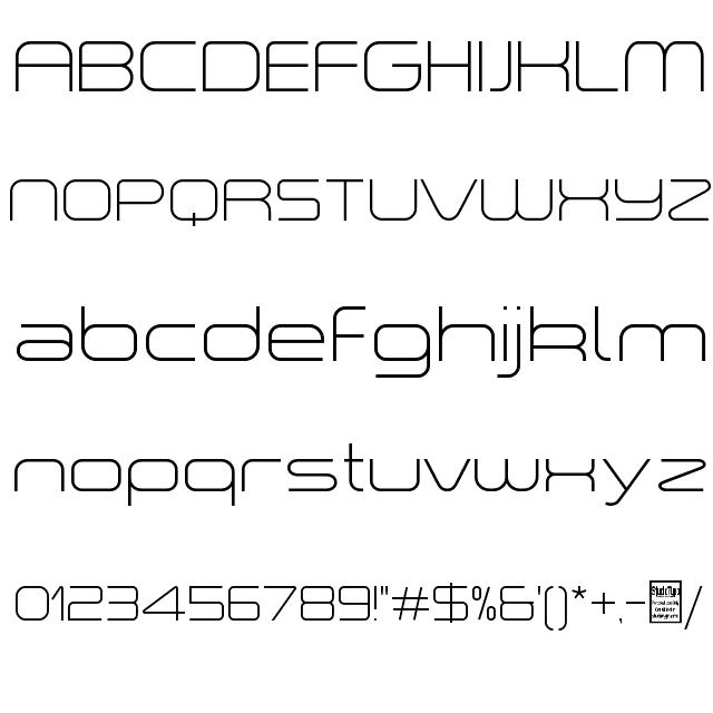 "a ""space Light Font"