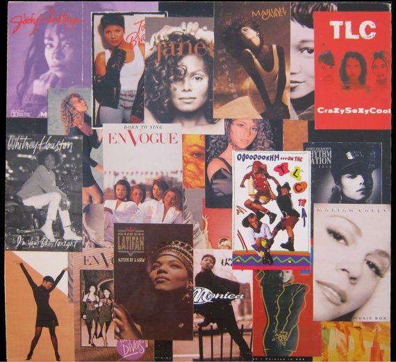 The Ladies Of 90 S R Amp B Vinyl Record Decoupage Personal