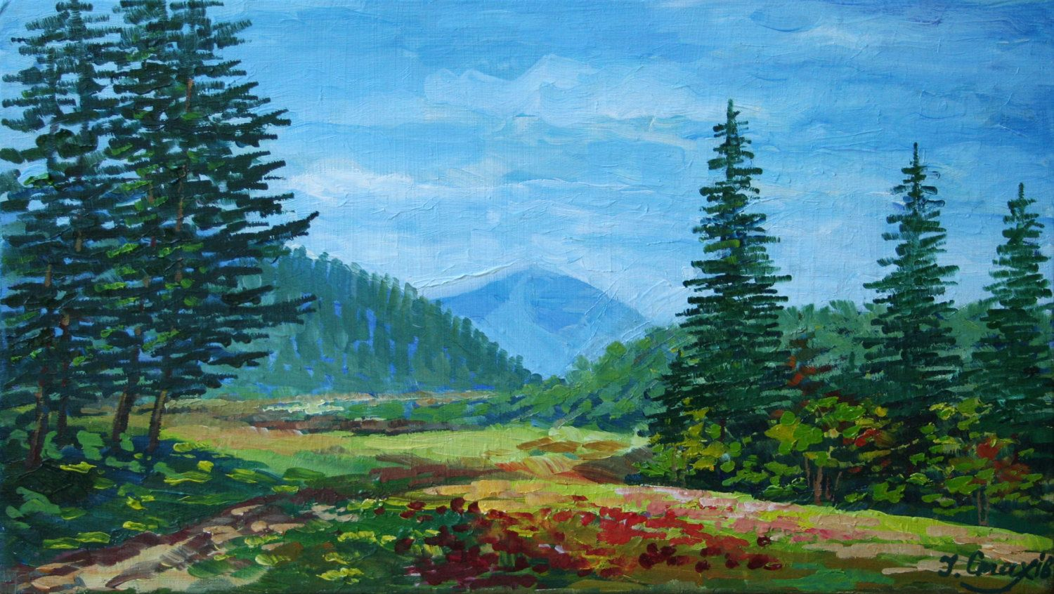 Landscape Oil Painting Nature Artwork Original Painting Scenery Painting Wall Art Small Forma Scenery Paintings Oil Painting Landscape Oil Painting Nature