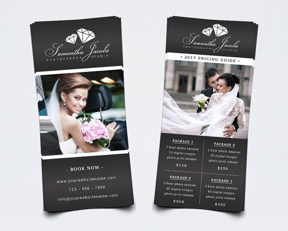 Photography Rack Card Template For Photoshop    X  Pricing