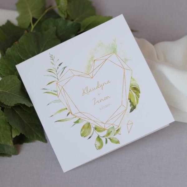 Geometryczne Zaproszenia ślubne Botaniczne Zaproszenia ślubne Navi