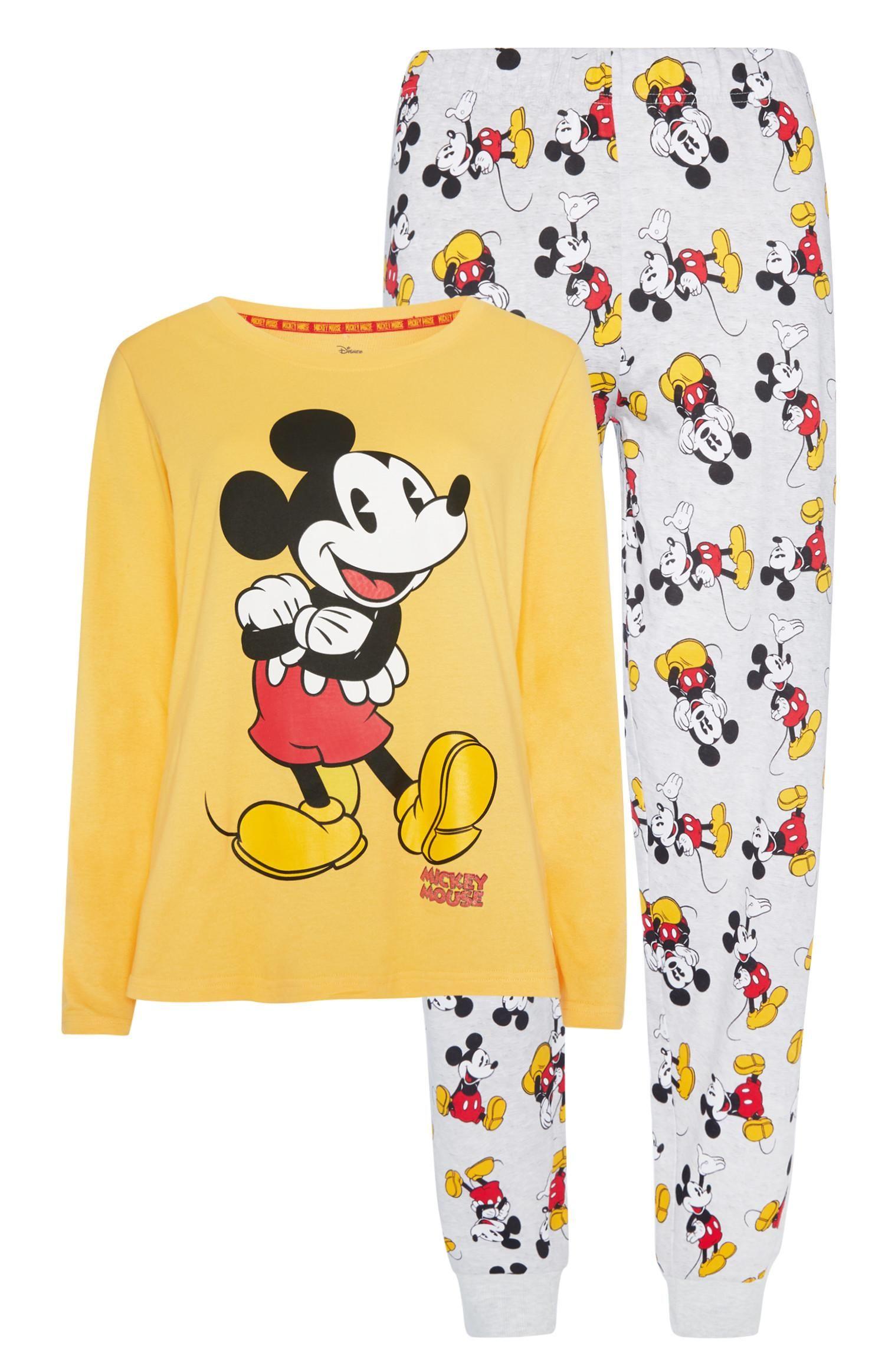 Primark Womens Disney Mickey Mouse Comfy Grey Sweatshirt Jumper Ladies