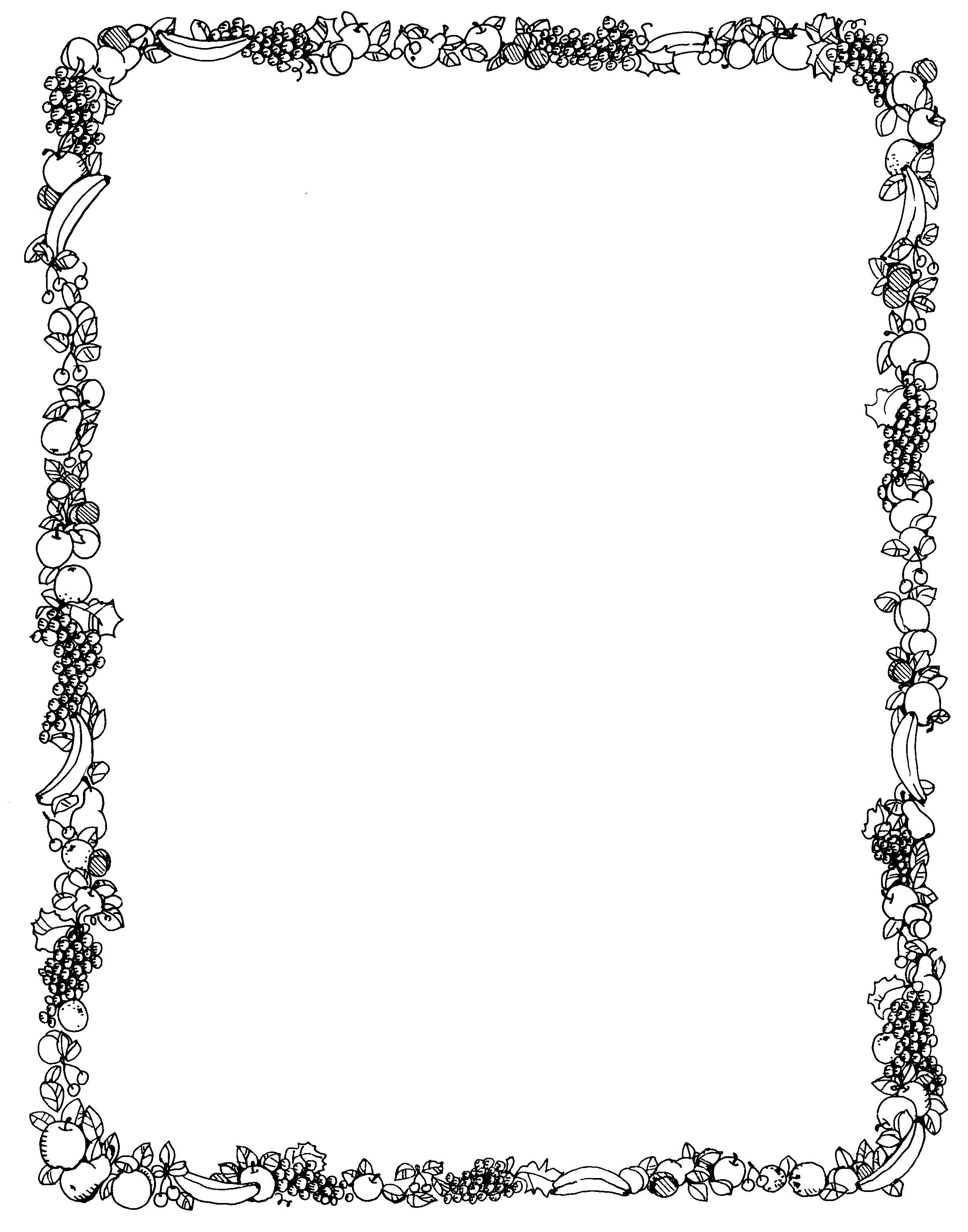 Border Clip Art Black and White