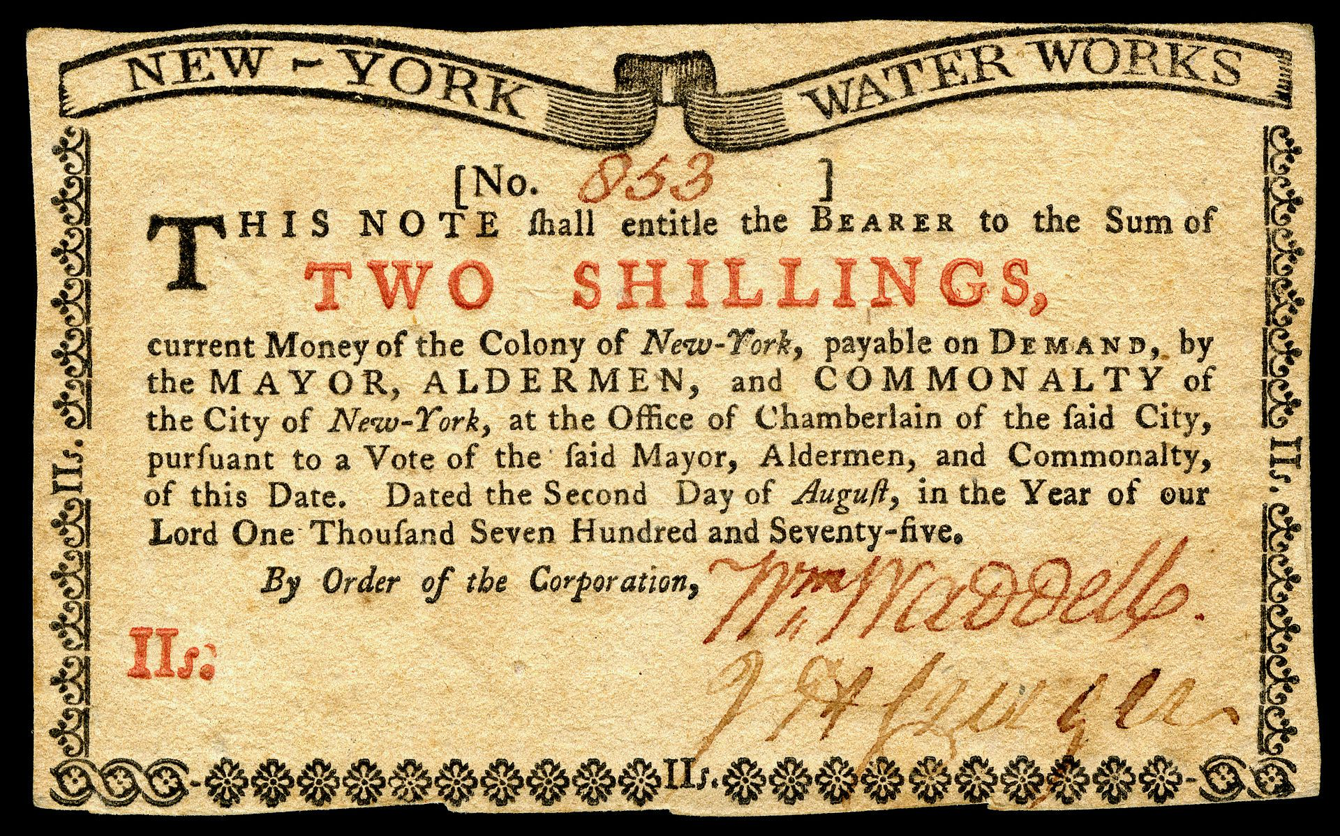 Us Colonial Ny 173 New York 2 Aug Obv