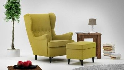 Skandynawski Fotel Uszak Podnozek Pufa Hocker Fv 6754676380 Oficjalne Archiwum Allegro Furniture Home Decor Armchair