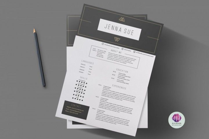 Modern resume template , cover letter template , references template By Chic templates