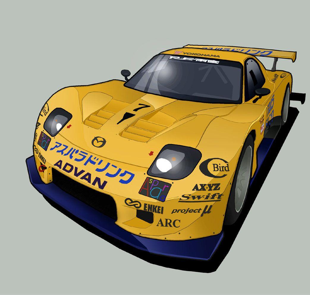 Aspara Mazda RX7-vector by MobileSuitGio