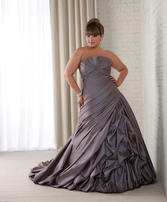 Plus Size Wedding Dress By Bonny Bridal Love A Colored Wedding