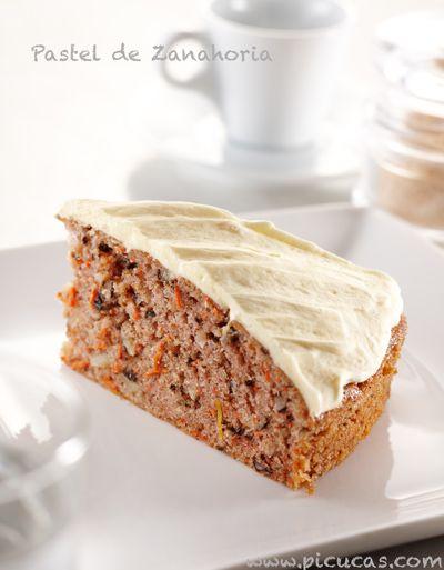 Receta Pastel de Zanahoria: http://picucas.com/como-hacer-pastel-de-zanahoria/