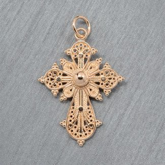Greek filigree cross 14kt yellow gold crosses and chains greek filigree cross 14kt yellow gold aloadofball Image collections