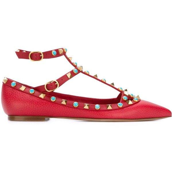 Valentino Rolling Rockstud Pointed-Toe Flats footlocker pictures online Jc8261Li