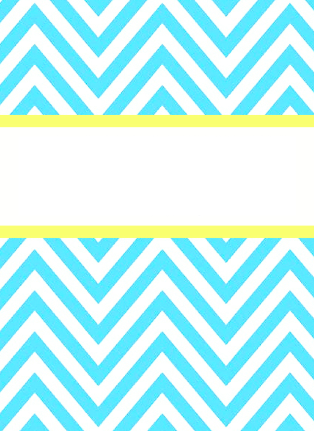 Free printable gold and white chevron binder cover template
