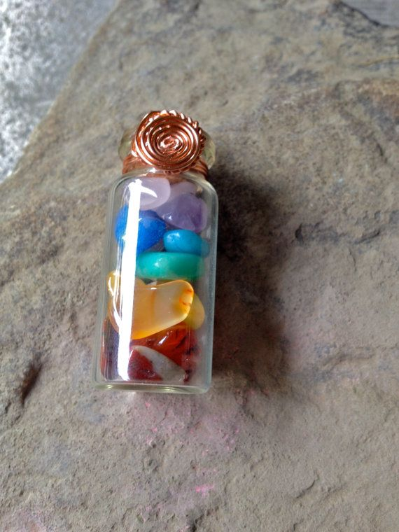 Anyone in need of a little chakra cleansing or alignment? Or if you're simply into healing crystals, this glass vial pendant is for you ♡ https://www.etsy.com/listing/232390371/large-glass-vial-chakra-pendant-healing