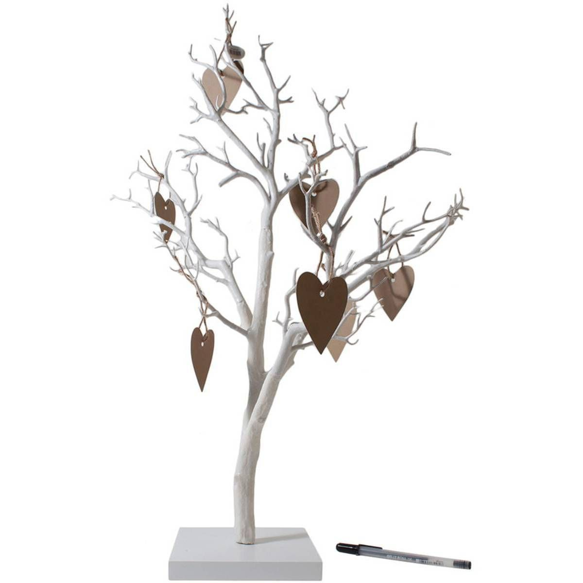 Twig Tree And Heart Labels Wedding Decoration Bundle 60 Pack