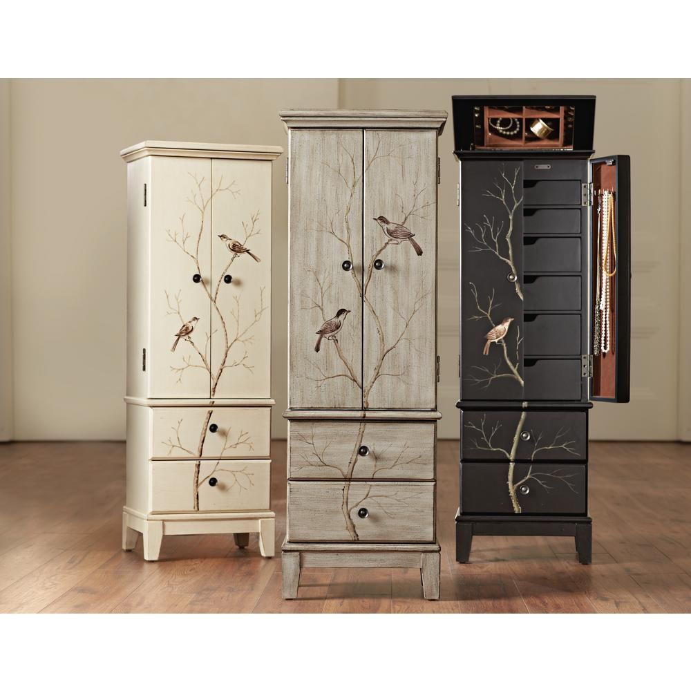 Home Decorators Collection Chirp Pewter Jewelry Armoire 1092210310