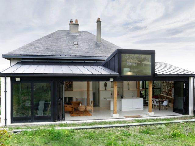 Une extension en rez-de-jardin qui su0027ouvre sur neuf mètres de long - maison avec toit en verre