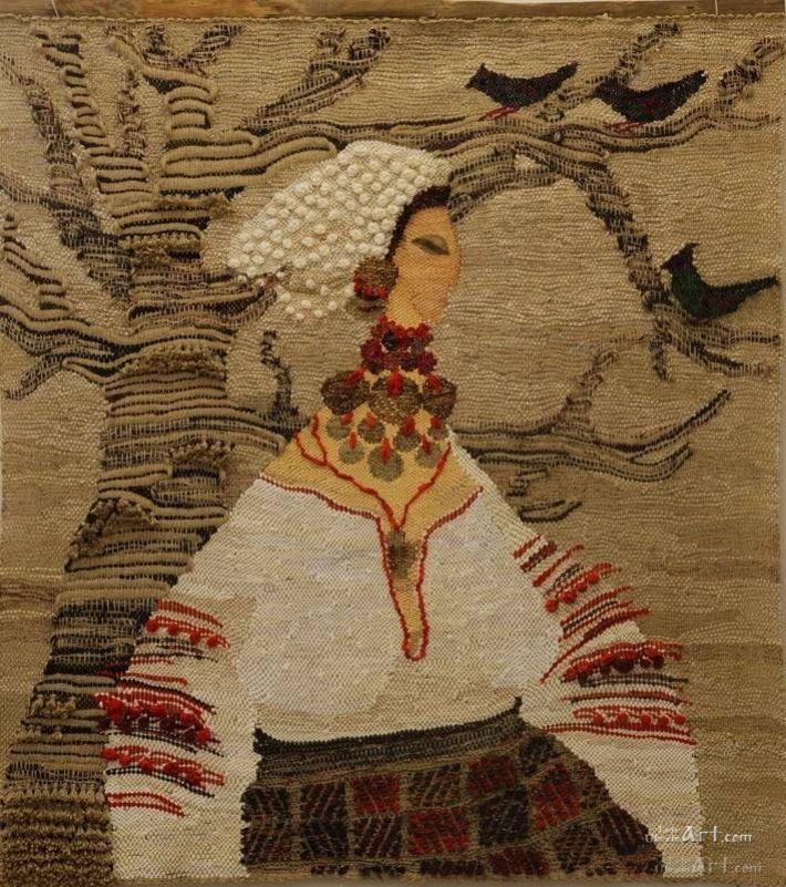 """The Woman and the Fabric Tree"" by Yaroslava Tkachuk"