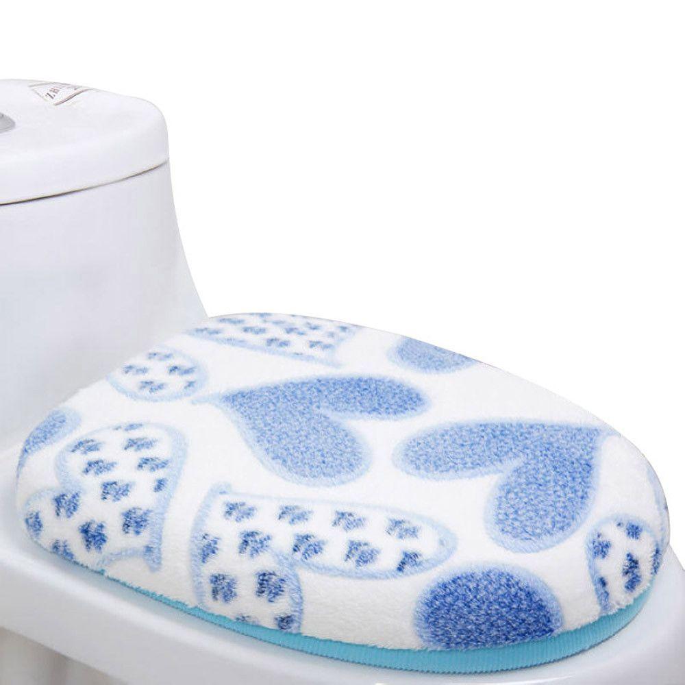 Vovotrade Coral Fleece 2 Piece Set Potty Toilet Cover O Ring Toilet ...
