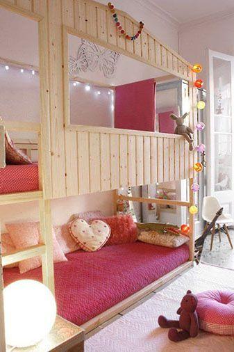 kamar tidur tingkat anak warna soft