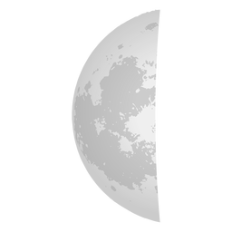 Last Quarter Moon Icon