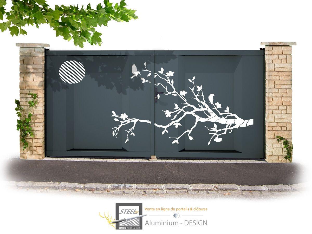 Haus design eingangstor portail battant modèle zen  zäune  pinterest  hoftor tore und zaun