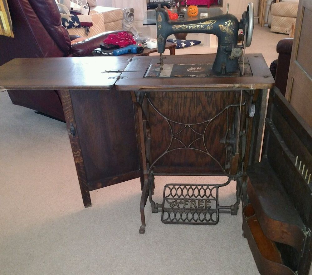 Prime Antique The Free Brand Sewing Machine Co Rockford Illinois Home Interior And Landscaping Spoatsignezvosmurscom