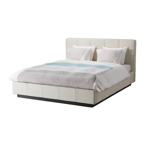 Folldal Bed Frame W White Leather King Ikea 799 New Bedroom Inspiration Pinterest