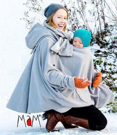 715087b0803 mam-design-manteau-de-portage-maternite-grossesse-aiska-poncho-gris-colombe-polaire  la même portée avec un bébé