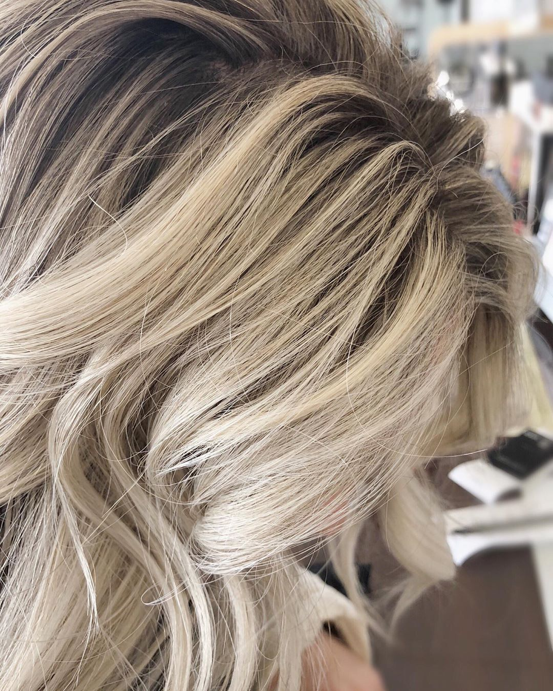 Rooted Blonde Hair By Mollygouveia Bright Blonde Low Maintenance Using All Aveda Color Blonde Blondehair Ashblonde Root Hairbrained In 2019