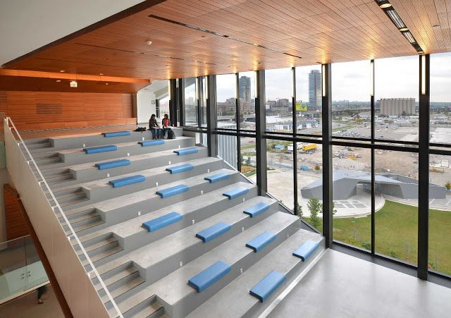 George Brown College Waterfront Campus By Stantec Kpmb Brown College Architecture College Design