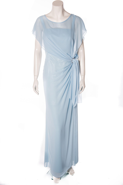 Chiffonkleid - hellblau - lang  Chiffonkleid, Modestil, Kleider