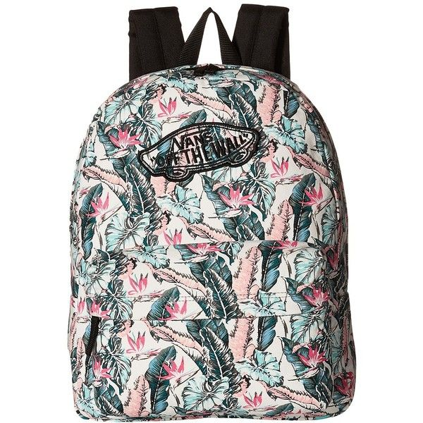 Vans Realm Backpack ((Tropical) Multi Black) Backpack Bags ( 38) ❤ liked on  Polyvore featuring bags