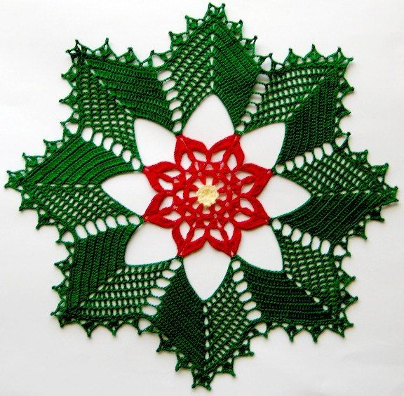 Christmas doily | Häkelmuster | Pinterest | Weihnachten häkeln ...
