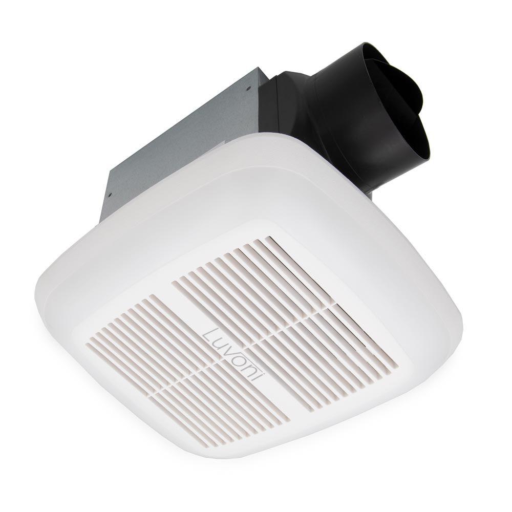 80 Cfm Bathroom Exhaust Fan 1 5 Sones Quiet Operation Built In Led Light Humidity Sensor In 2021 Exhaust Fan Bathroom Exhaust Fan Led Lights