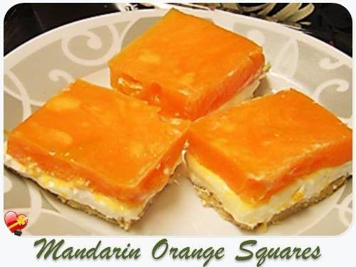 Jello cream cheese squares for Food bar orange