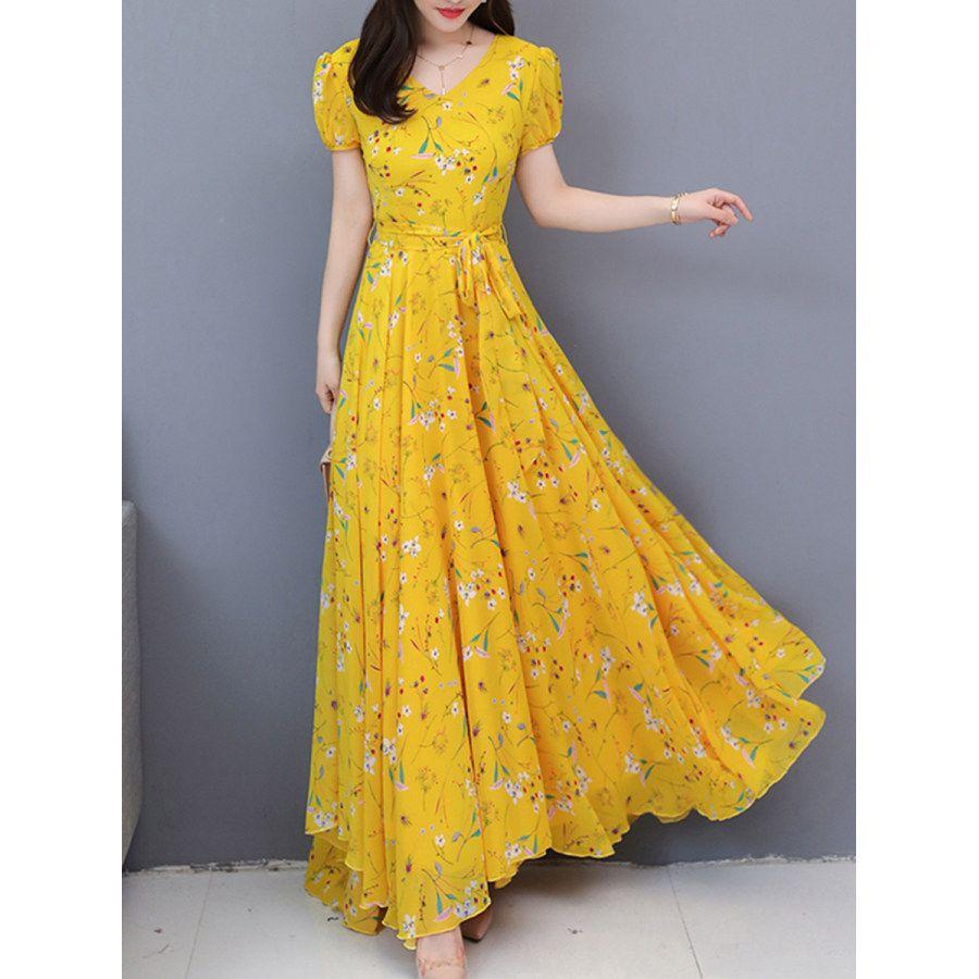 Sweet Heart Print Maxi Dress Ootdmw Com In 2021 Floral Print Chiffon Maxi Dress Printed Maxi Dress Maxi Dress [ 900 x 900 Pixel ]