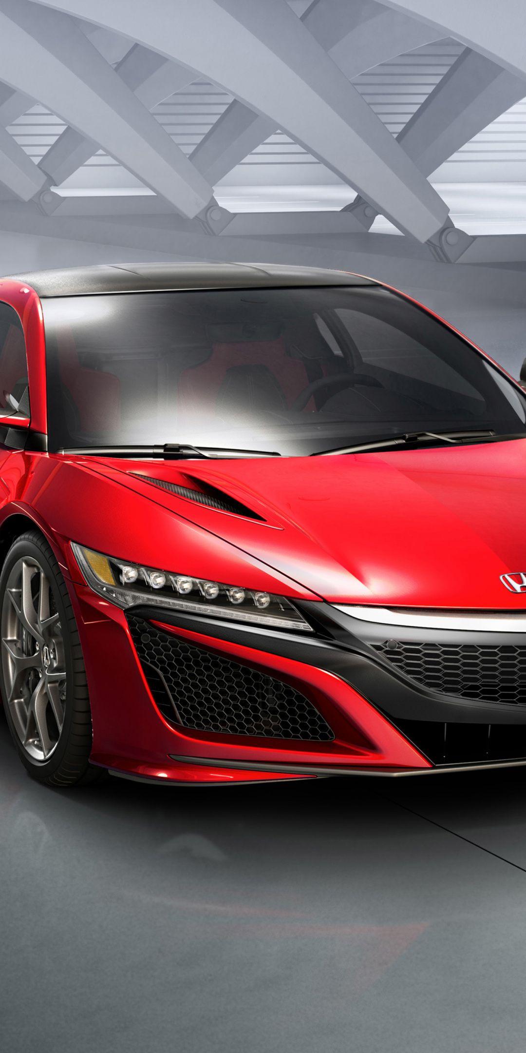 Honda Nsx Red Car Sports Car Front 1080x2160 Wallpaper