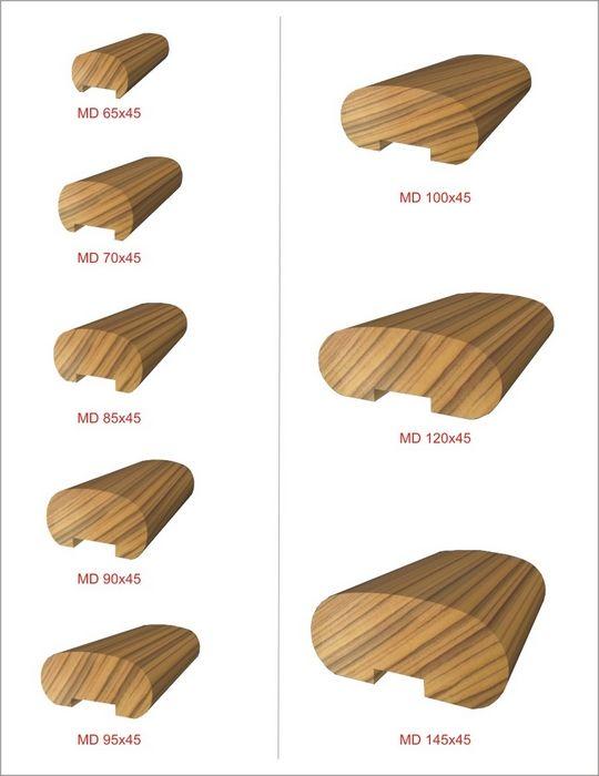 Best Wood Handrail Profiles Wood Handrail Staircase Handrail 400 x 300