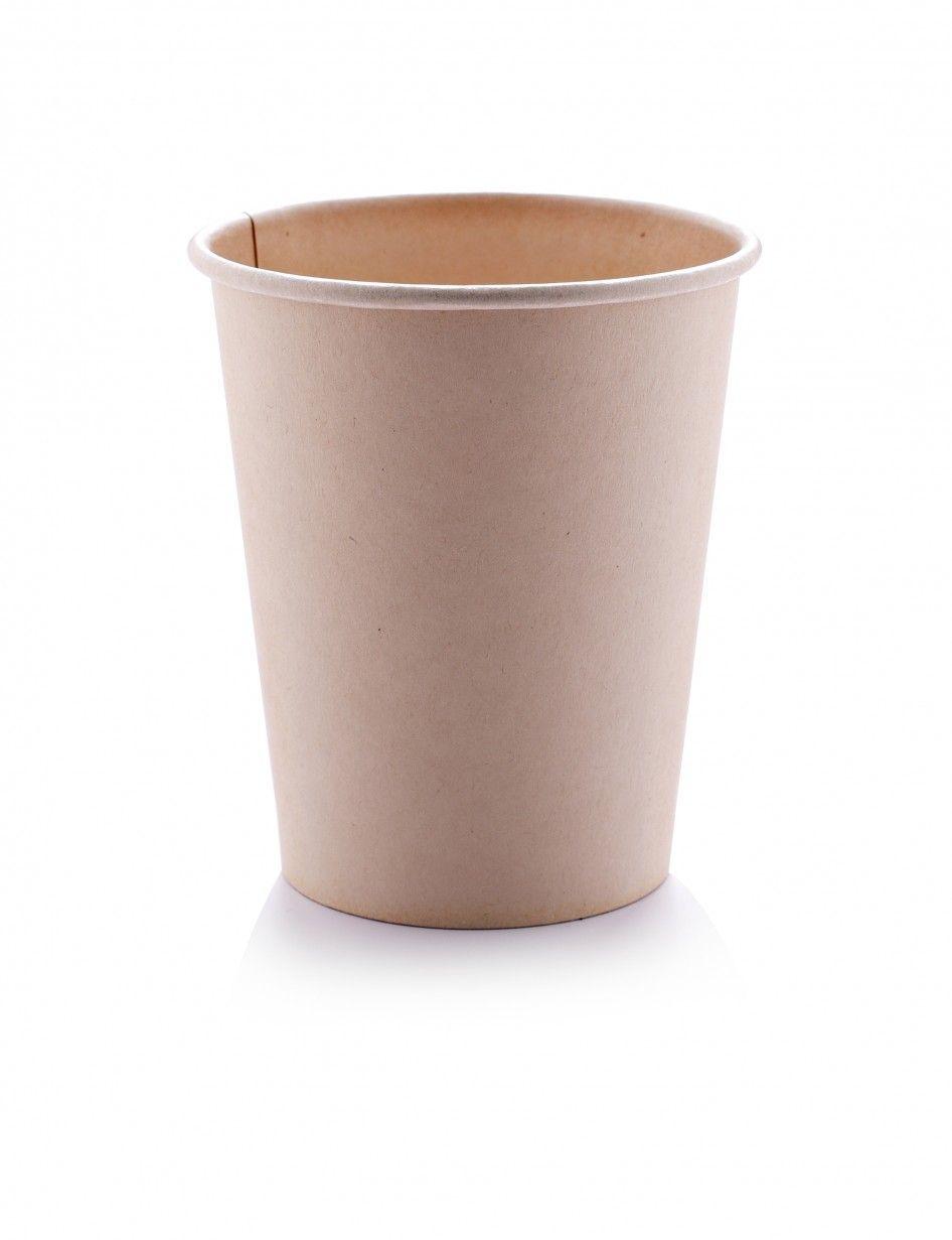 كوب ورق بامبو للمشروبات الساخنة مثل اكواب قهوه اللاتيه و الكابتشينو الكبيره السعة 12 انز 350 مل اللون بامبو بني ا Trash Can Canning Small Trash Can