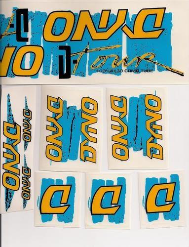 1987 Dyno D-tour Decal Stickers Old school BMX déviation