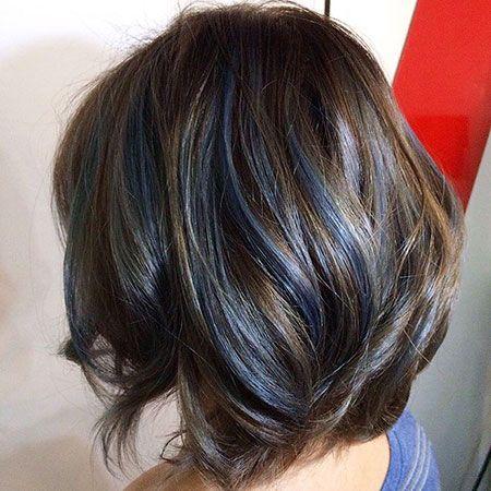 41 Gorgeous Balayage Short Hair Ideas For 2017 Blue Hair Highlights Blue Ombre Hair Hair Highlights