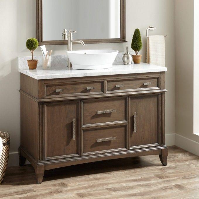 48 Livia Vessel Sink Vanity Gray With Images Vessel Sink