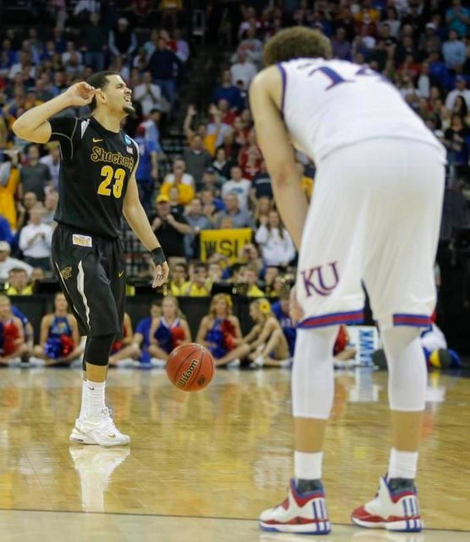 Photos Wichita State Dominates Kansas To Advance To The Sweet 16 Basketball Shorts Girls Basketball Games For Kids Wsu Basketball