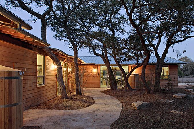 Small Campus Live Oak Trees Nature Center Cibolo