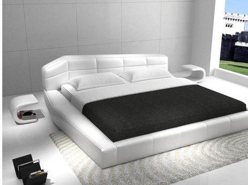 Rishon King Size Modern European Style White Platform Bed eBay