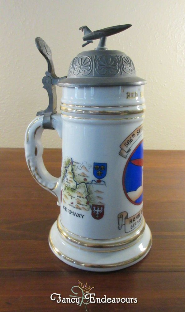 ROYAL AIR FORCE LINTON-ON-OUSE BASE BEER STEIN