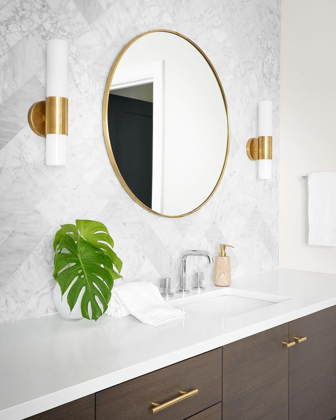 Penz Medium Cylindrical Sconce Minimalist Bathroom Inspiration Round Mirror Bathroom Bathroom Inspiration [ 1350 x 1080 Pixel ]