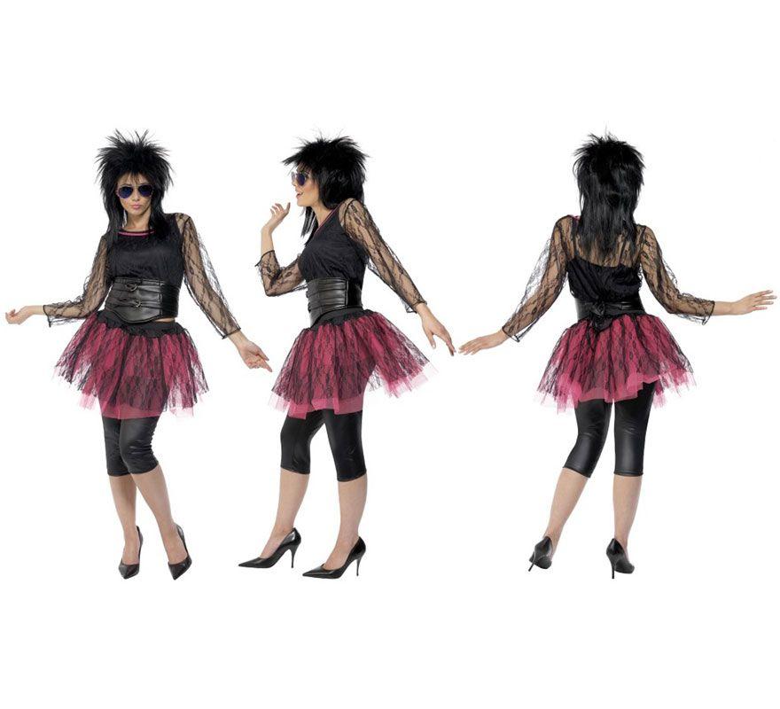 9694e6023 Disfraz Icono Pop de los Años 80 para Mujer talla M 40/42. Disfraz ...