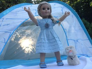 From our collaboration video with AGSM International. DIY Elsa and Olaf costumes for American Girl Doll and Coconut dog