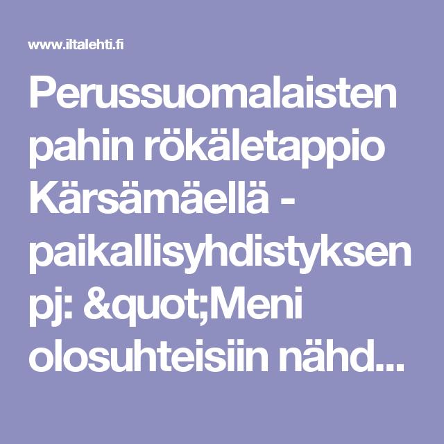 """Perussuomalaisten pahin rökäletappio Kärsämäellä - paikallisyhdistyksen pj: """"Meni olosuhteisiin nähden hyvin"""""""